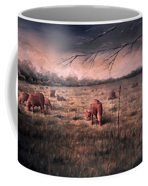 Landscape Coffee Mug featuring the painting A childhood by William Russell Nowicki