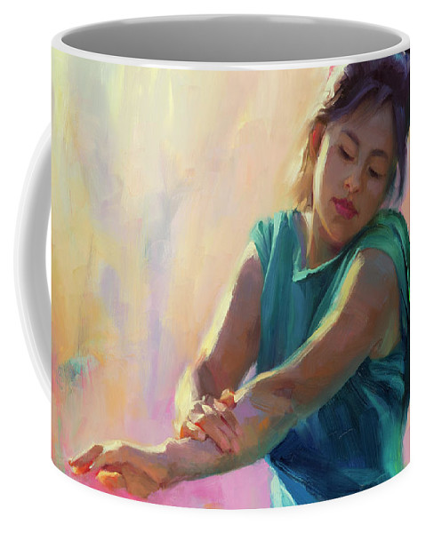 Spring Coffee Mug featuring the painting Enchanted by Steve Henderson