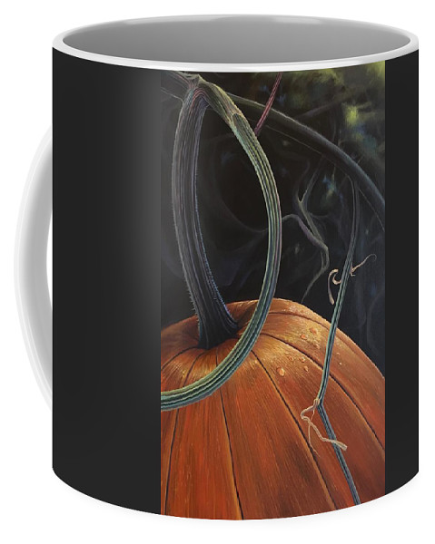 Pumpkin Coffee Mug featuring the painting Enchantment by Hunter Jay