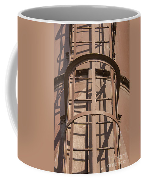 Istanbul Turkey Silahtaraga Power Station Ottoman Electric Company Energy Museum Museum Structure Structures Architecture Fire Escape Escapes Odds And Ends Coffee Mug featuring the photograph Enclosed Metal Fire Escape by Bob Phillips