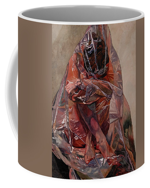 Nude Coffee Mug featuring the painting Encompassed by Valerie Patterson