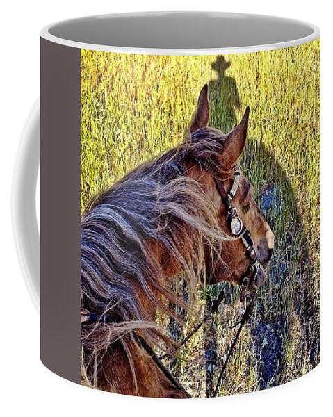Horses Coffee Mug featuring the photograph End Of Spring by JoJo Brown