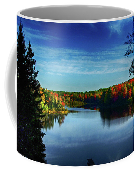 Medford Coffee Mug featuring the photograph End Of The Day At The Lake by Tommy Anderson