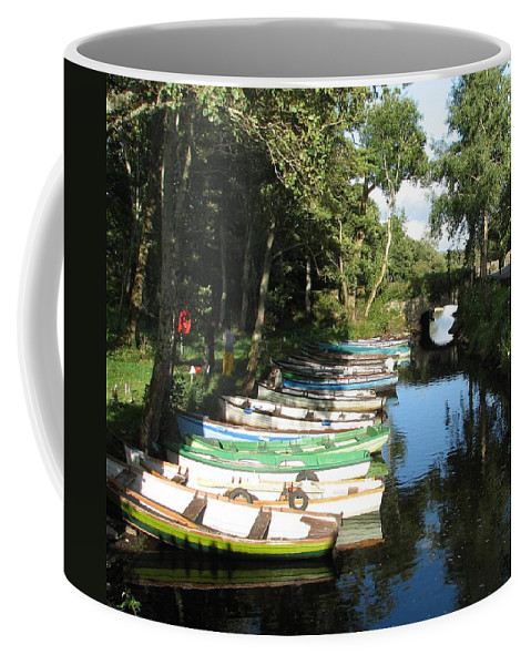 Boat Coffee Mug featuring the photograph End Of The Day by Kelly Mezzapelle