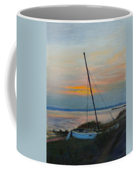 Landscape Coffee Mug featuring the painting End Of The Day by Phyllis Tarlow