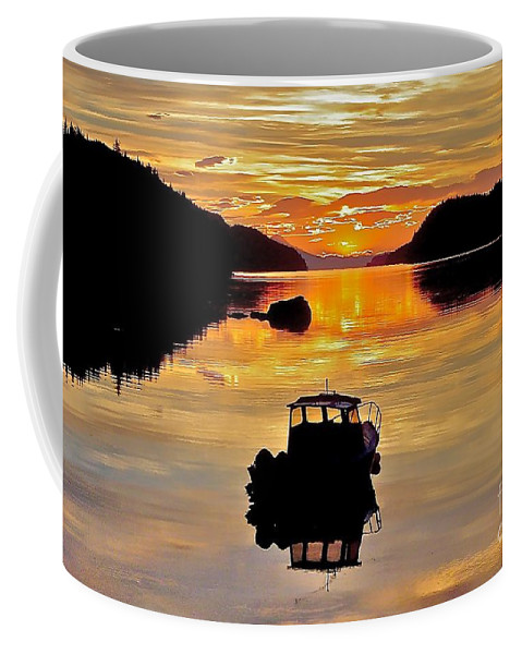 Boat Coffee Mug featuring the photograph End Of The Day by Rick Monyahan