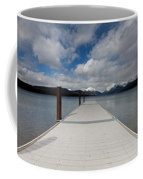 Dock Coffee Mug featuring the photograph End Of The Dock by Fran Riley
