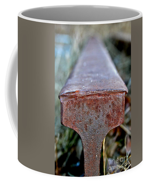 Rail Coffee Mug featuring the photograph End Of The Line by Rick Monyahan