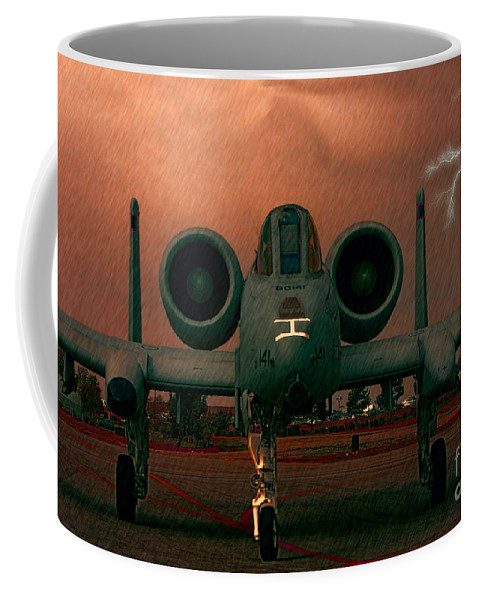 Republic A-10 Warthog Coffee Mug featuring the photograph End Of The Mission by Tommy Anderson