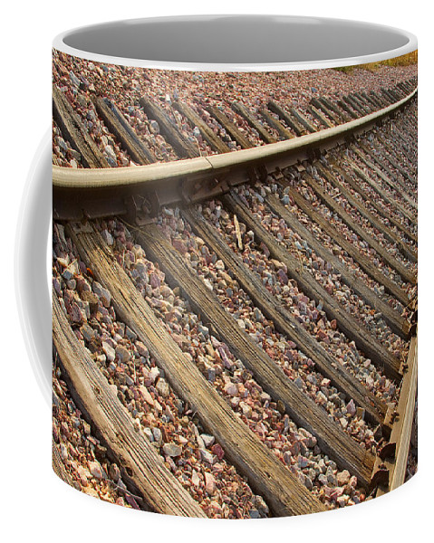 Train Coffee Mug featuring the photograph End Of The Tracks by James BO Insogna