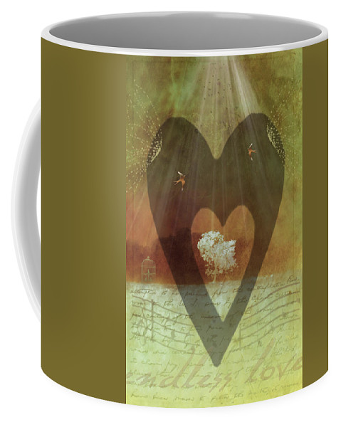 Surrealism Coffee Mug featuring the digital art Endless Love by Holly Kempe