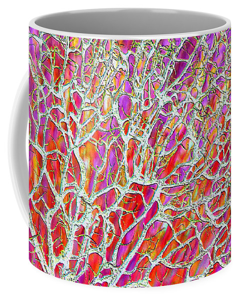 Purple Coffee Mug featuring the photograph Energetic Abstract by Carol Groenen