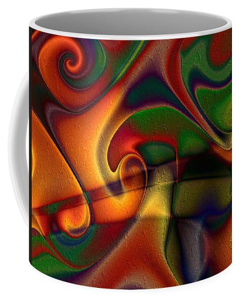 Energetic Coffee Mug featuring the digital art Energetic by Kiki Art