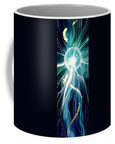 Energy Flow Coffee Mug featuring the painting Energy by Veronica Castaneda