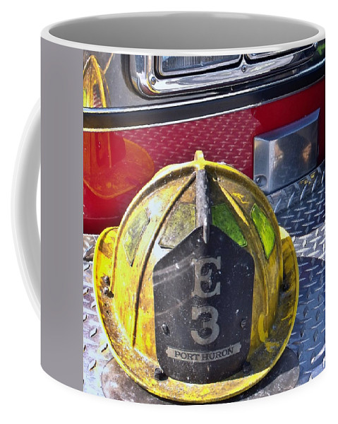 Fire Coffee Mug featuring the photograph Engine 3 by Jimmie Blacker