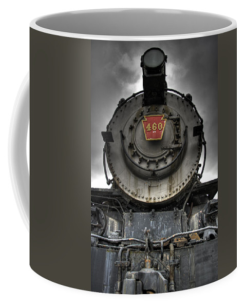 Hdr Coffee Mug featuring the photograph Engine 460 Front And Center by Scott Wyatt