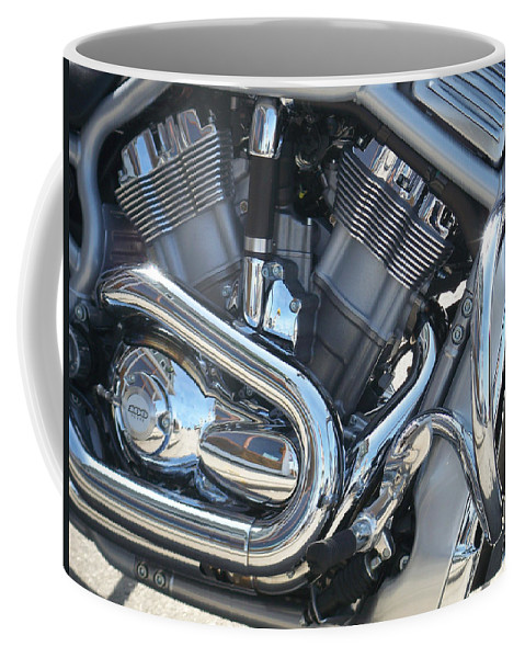 Motorcycle Coffee Mug featuring the photograph Engine Close-up 1 by Anita Burgermeister
