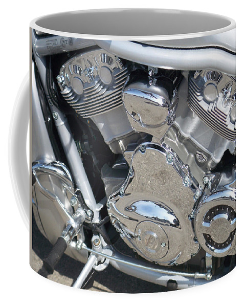 Motorcycle Coffee Mug featuring the photograph Engine Close-up 2 by Anita Burgermeister