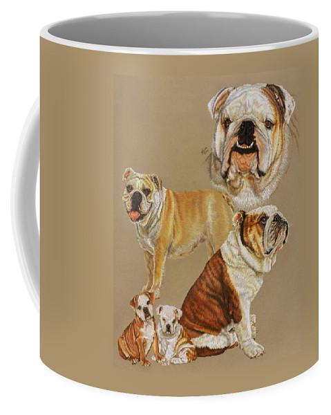 Purebred Coffee Mug featuring the drawing English Bulldog by Barbara Keith