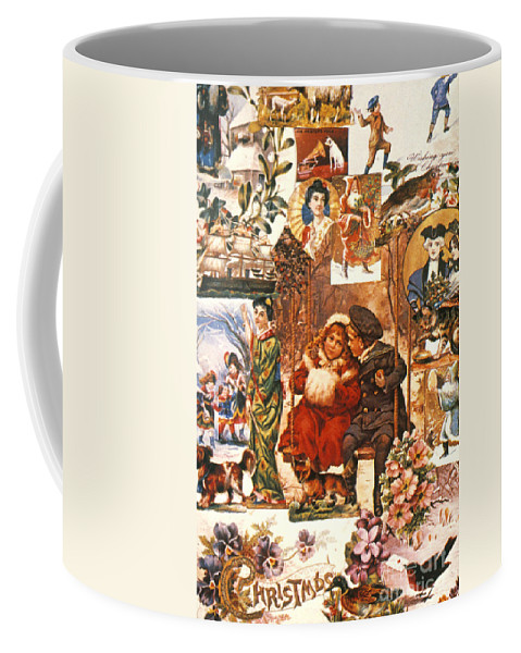 19th Century Coffee Mug featuring the photograph English Christmas Cards by Granger