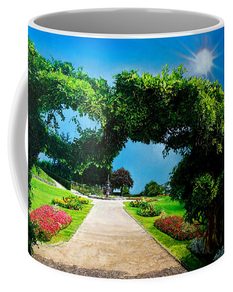 Garden Coffee Mug featuring the painting English Garden by Michel Angelo Rossi