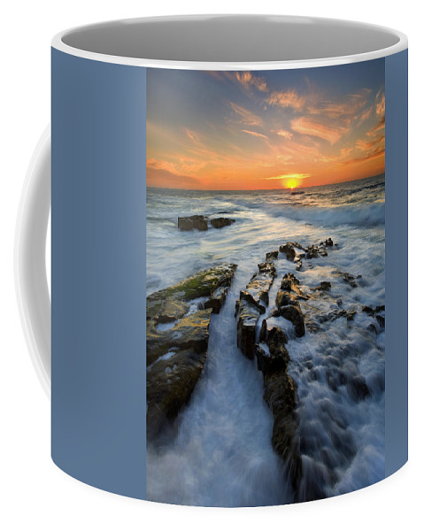 Sunset Coffee Mug featuring the photograph Engulfed by Mike Dawson