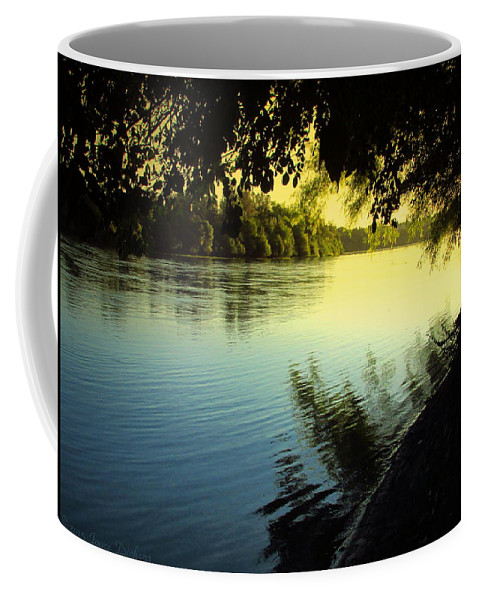River Coffee Mug featuring the photograph Enjoying The Scenic Beauty Of The Sacramento River by Joyce Dickens