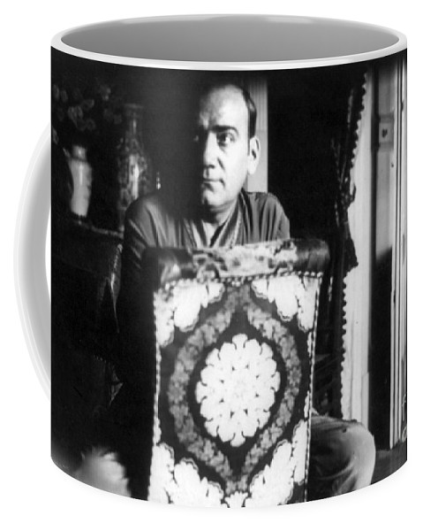 Fine Arts Coffee Mug featuring the photograph Enrico Caruso, Last Known Photo, 1921 by Science Source