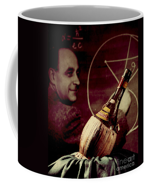 Science Coffee Mug featuring the photograph Enrico Fermi And Cp-1 Chianti Bottle by Science Source
