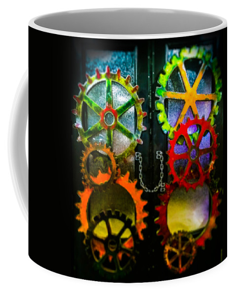Cogs Coffee Mug featuring the photograph Enter Chained Melody by Karen Wiles