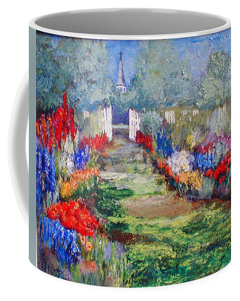 Landscape Coffee Mug featuring the painting Enter His Gates by Gail Kirtz
