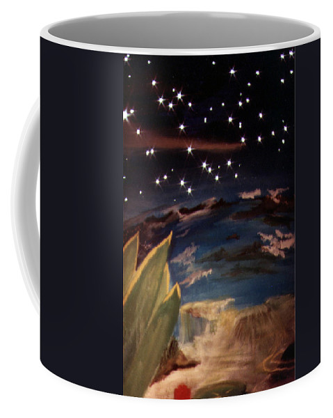 Surreal Coffee Mug featuring the painting Enter my dream by Steve Karol