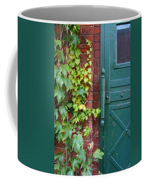 Vines Coffee Mug featuring the photograph Enter Vine Door by Minaz Jantz