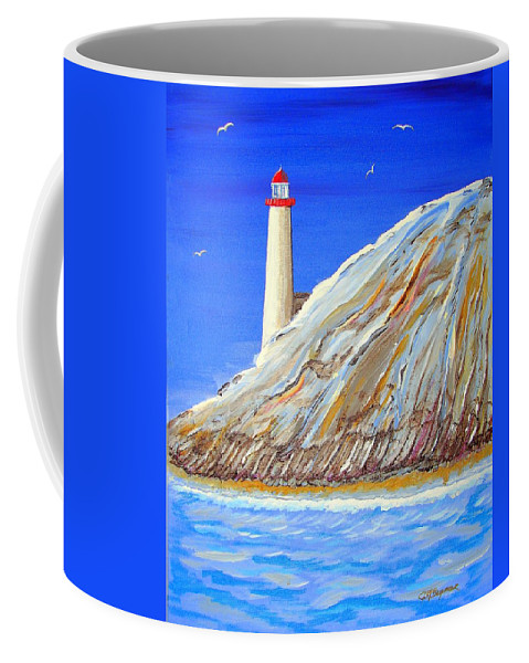 Impressionist Painting Coffee Mug featuring the painting Entering The Harbor by J R Seymour