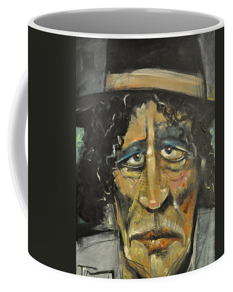 Man Coffee Mug featuring the painting Entertaining Angels Unaware by Tim Nyberg