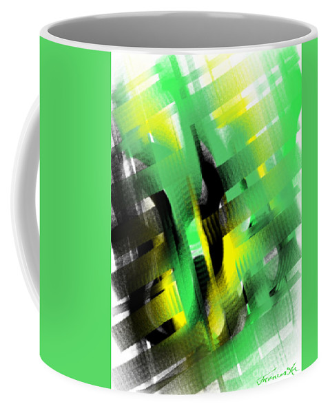 Abstract Coffee Mug featuring the painting Enthralled by Frances Ku