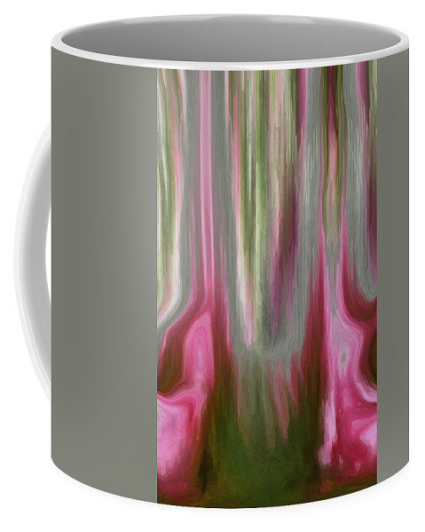 Abstract Art Coffee Mug featuring the digital art Entrance by Linda Sannuti