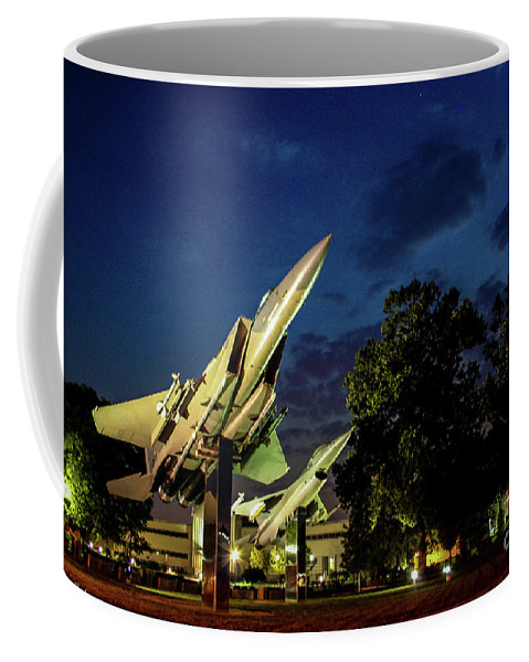 Wright Patterson Coffee Mug featuring the photograph Entrance Wright Patterson Afb by Tommy Anderson