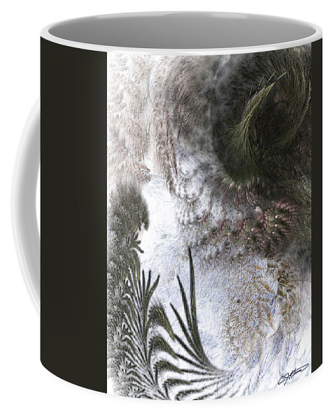 Abstract Coffee Mug featuring the digital art Environmental Transitions by Casey Kotas