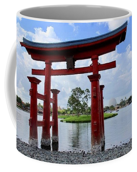 Japan Coffee Mug featuring the photograph Epcot Japan by Debra K Gallagher