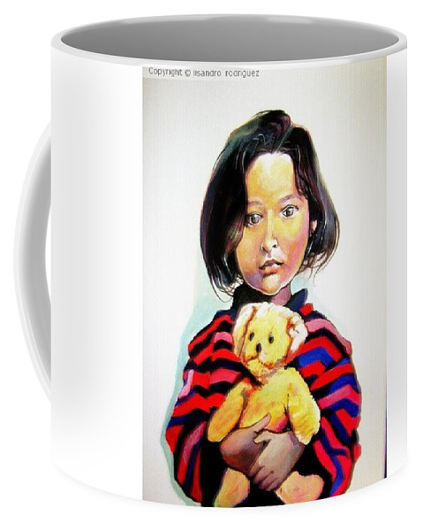 Coffee Mug featuring the painting Ephebecense by Lisandro Rodriguez