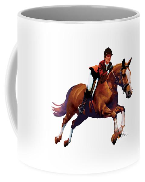 Horse Coffee Mug featuring the digital art Equestrain by Trevor Irvin
