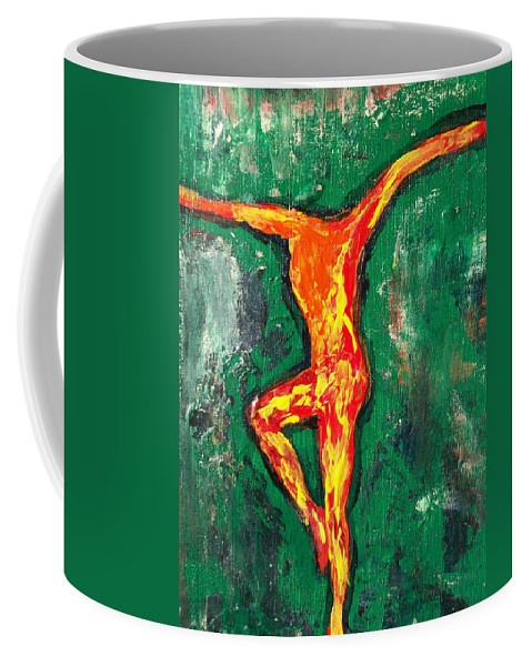 Fire Coffee Mug featuring the painting Erin by Laurette Escobar