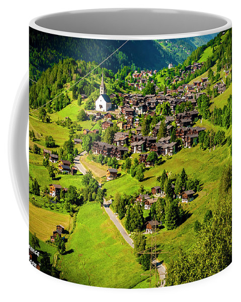 Photography Coffee Mug featuring the photograph The Alpine Village Of Ernen In Switzerland by Jason Yoon