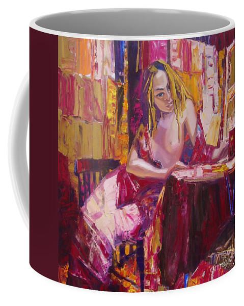 Ignatenko Coffee Mug featuring the painting Ero Regy by Sergey Ignatenko