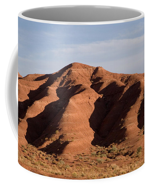 Erosion Coffee Mug featuring the photograph Eroded Hills In Sunset Light by Taylor S. Kennedy