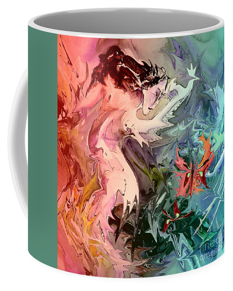 Miki Coffee Mug featuring the painting Eroscape 08 1 by Miki De Goodaboom