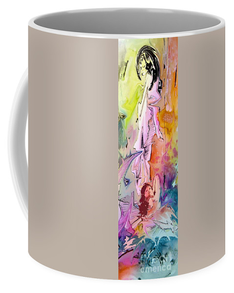 Miki Coffee Mug featuring the painting Eroscape 09 1 by Miki De Goodaboom