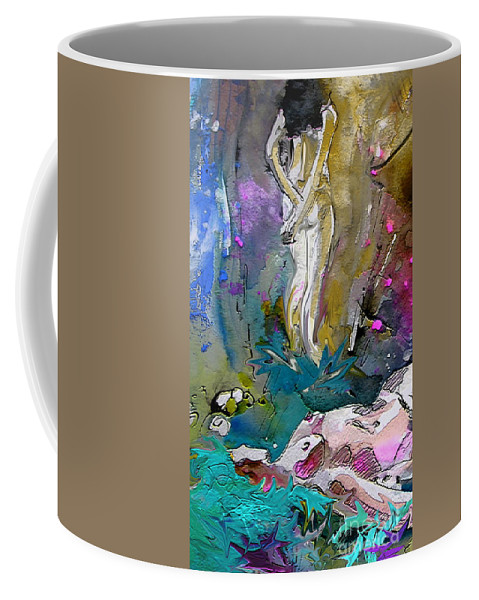 Miki Coffee Mug featuring the painting Eroscape 1104 by Miki De Goodaboom
