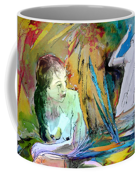 Miki Coffee Mug featuring the painting Eroscape 15 1 by Miki De Goodaboom